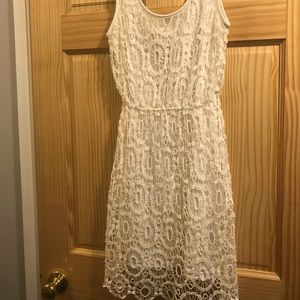 Lauren Conrad white lace dress worn once